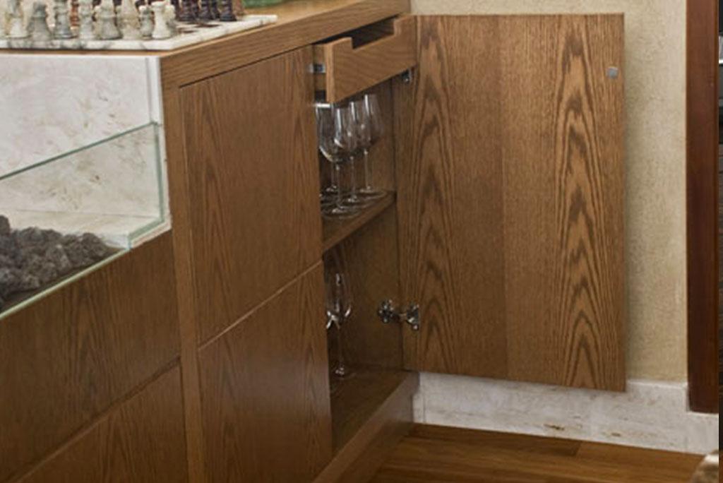 unimoveis marcenaria boutique armario buffet para louças em madeira